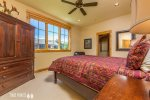 Master Bedroom with Queen Bed & Ceiling Fan