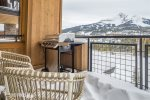 Private balcony with gas grill and view