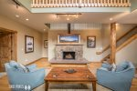 Spacious Living Area- Gas Fireplace and Seating for Many