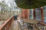 A Beautiful outside deck for grilling