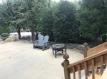 Landscaped patio