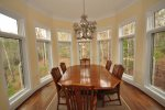 Formal dining room seats six