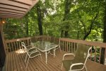 Enjoy quiet time on the back deck with a beautiful view