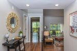 Kitchen has new stainless steal appliances and stacked washer & dryer