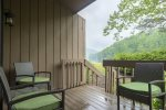 Enjoy the view of Bald Mountain Lake from the deck