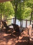 Lay back and enjoy the lake view on the back deck