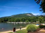 Private beach on Lake Lure