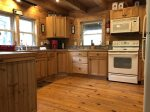 Breakfast Bar in kitchen with 3 stools