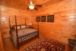 Rustic bedroom with a queen size bed
