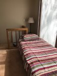 Twin bed in loft area great for kids