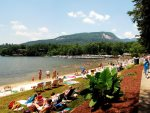Visit our private beach located inside Rumbling Bald Resort