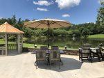 Lakeview Dining Table with Parasol