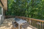 Beautiful Deck with Table Seating Six