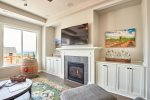 Custom Built-In Surrounding the Fireplace