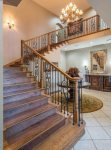 Large open entry with grand staircase
