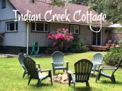 Picturesque and Peaceful Creek side setting just 8 miles west of Port Angeles