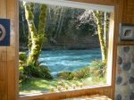 Picture window looks out on Sol Duc River
