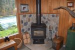 Wood stove for cooler evenings