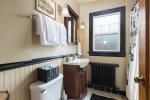 Full bath on the upstairs floor with tub/shower combo