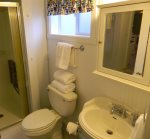 Ensuite bath with shower only
