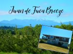 Juan de Fuca Breeze with mountain and water views