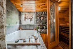 Creek Access | Cozy 1BR 2BA Cabin Rental | Cedar Sauna | Hot Tub | Only Few Miles from Helen, Ga