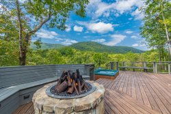 Luxury Log Cabin with Mountain View | Hot Tub Overlooking View | 3 BR 2 BA | Private Setting | Pet Friendly |
