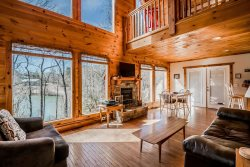Luxurious Cabin with Spectacular Lake View | Private Setting | Hot Tub | Game Room | Pet Friendly