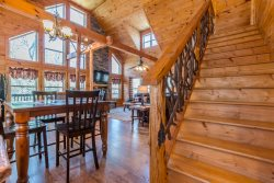 Custom Built Cabin with Sauna, Hot Tub & Wrap Around Porch. Pet Friendly. 3BR 3BA.