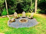 New fire pit area