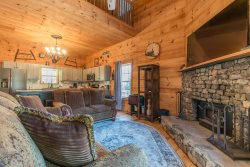 Hoo's There Hideaway | 2BR 2BA Mountain Escape Cabin | Hot Tub | Pool Table | Jetted Tub | Fire Pit