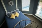 Spiral staircase to get to all 3 levels of your room - King Bed