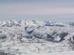 Riding the lifts - awesome skiing, also runs in summer for bikes & hikes