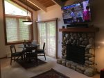 Dinning Area, Gas Fireplace and 60