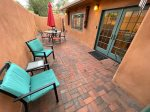 Private patio- perfect for morning coffee or evening drinks