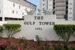 Gulf Tower view from West Beach Boulevard