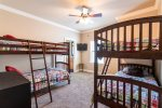 Bunk room with two sets of bunks