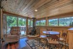 Super cute den/sunroom perfect for dining or reading a book