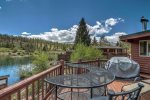 Enjoy epic views of the duck pond and mountain range