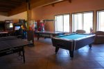Enjoy gaming or playing billiards with the group in the evenings