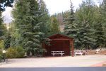 Blue River RV Site 348 with Picnic Shelter