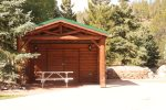 Enjoy the picnic shelter at the large site