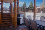 Grill outside with the group on this perfect covered patio with furnished grill and seating