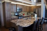 Fully furnished kitchen with top of the line furnishings