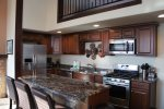 Make family meals in the fully furnished top of the line kitchen