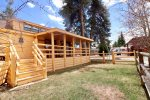 Fenced yard adds extra comfort and privacy for families