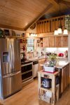 Fully Furnished Kitchen in Rental Cabin
