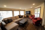 Huge living area perfect for enjoying a movie or hanging out with your friends and family