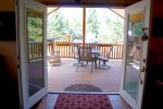 Open concept cabin and patio will make sure that no on is left out