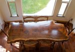 Beautiful hardwood dining table for 6 perfect for family meals or game night